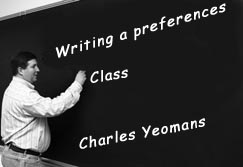 Writing a Preferences Class